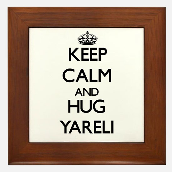 Keep Calm and HUG Yareli Framed Tile