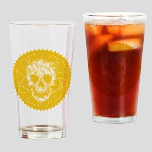 Chainring Skull Orange Drinking Glass