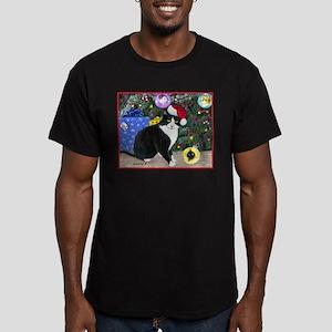 Cat Santa Hat Christmas T-Shirt