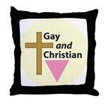 GAY AND CHRISTIAN Throw Pillow