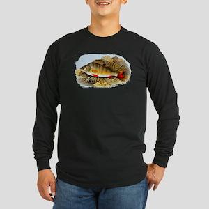 Perch Fish Long Sleeve Dark T-Shirt