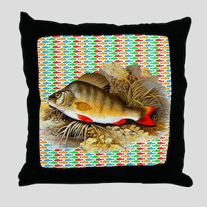 Perch Fish Throw Pillow
