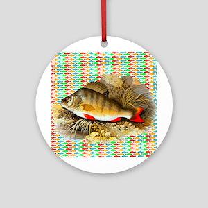 Perch Fish Ornament (Round)