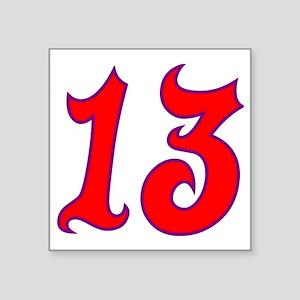 """Fire 13 Square Sticker 3"""" x 3"""""""