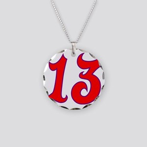 Fire 13 Necklace Circle Charm
