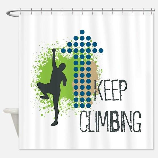 Cute Climb Shower Curtain