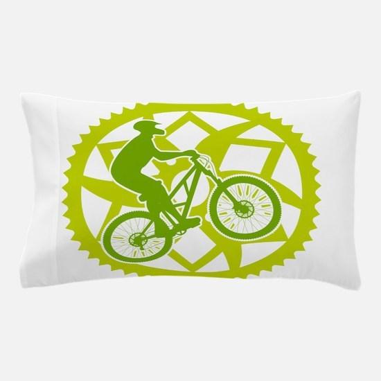 Cute Mountain biking Pillow Case