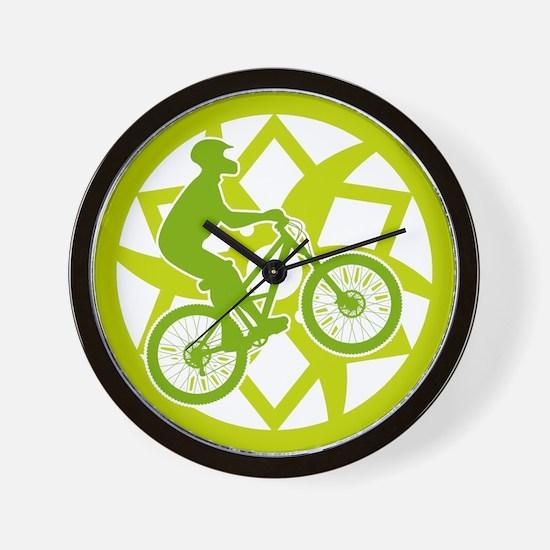 Funny Mountain biking Wall Clock