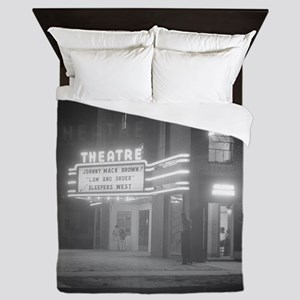 Movie Theater at Night, 1941 Queen Duvet