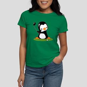 Golf Penguin Women's Dark T-Shirt