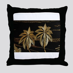Palms from straw Throw Pillow