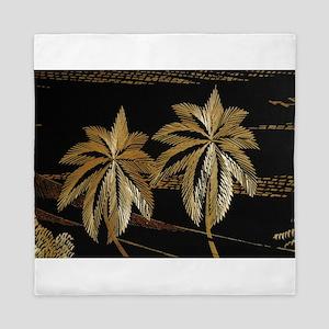 Palms from straw Queen Duvet