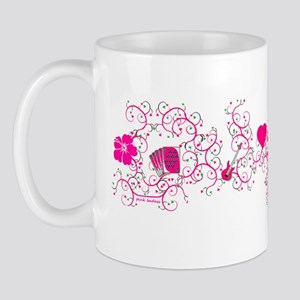 Pink Vine Collage Mug