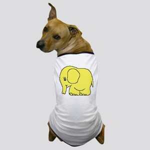 Funny cross-stitch yellow elephant Dog T-Shirt