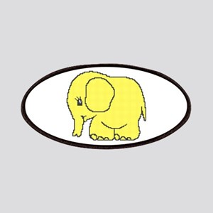 Funny cross-stitch yellow elephant Patches