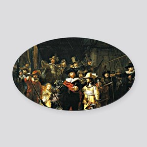 Rembrandt - The Nightwatch, 1642 p Oval Car Magnet