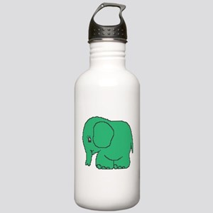 Funny cross-stitch green elephant Stainless Water