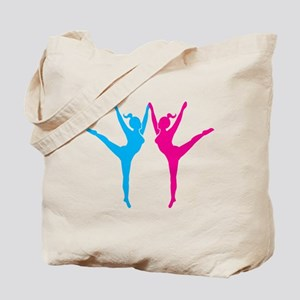 Ladies Dancing pink and blue Tote Bag