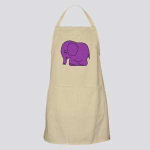 Funny cross-stitch purple elephant Apron