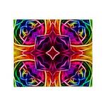 Rainbow Rose Kaleidoscope Throw Blanket