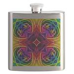 Rainbow Rose Kaleidoscope Flask