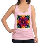 Rainbow Rose Kaleidoscope Racerback Tank Top