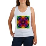 Rainbow Rose Kaleidoscope Tank Top