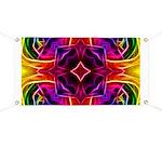 Rainbow Rose Kaleidoscope Banner