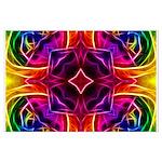 Rainbow Rose Kaleidoscope Posters