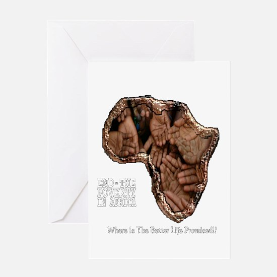 END POVERTY IN AFRICA Greeting Cards