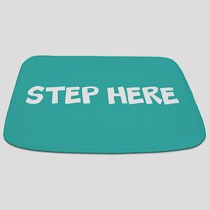 Step Here Turquoise Bathmat