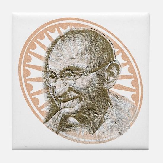 Gandhi Republic Day Tile Coaster