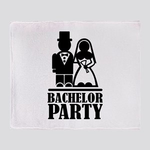Bachelor Party wedding couple Throw Blanket