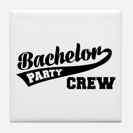 Bachelor Party Crew Tile Coaster