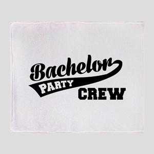Bachelor Party Crew Throw Blanket