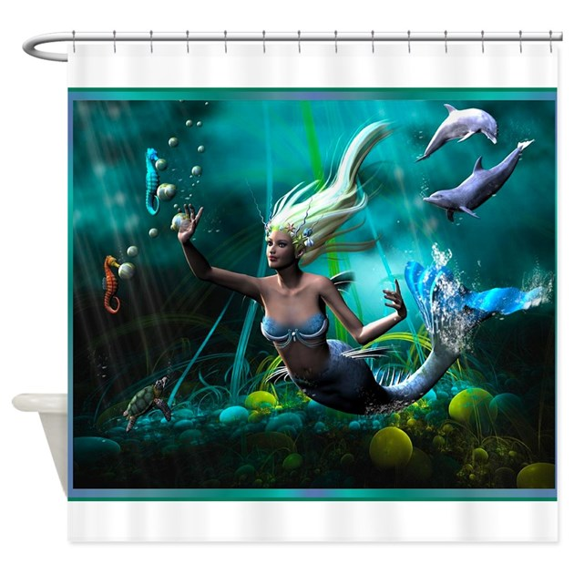 mermaid and pirate shower curtain best seller merrow mermaid shower curtain by ancientroots 253