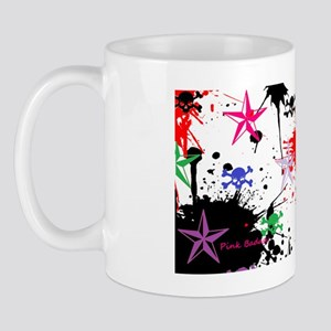 skulls and stars muli col paint back Mug