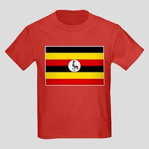 Uganda Flag Kids Dark T-Shirt