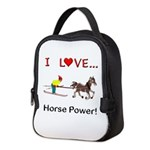 I Love Horse Power Neoprene Lunch Bag