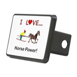 I Love Horse Power Rectangular Hitch Cover