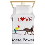 I Love Horse Power Twin Duvet