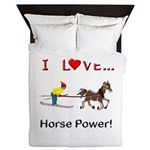 I Love Horse Power Queen Duvet