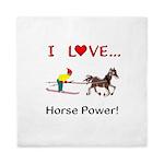 I Love Horse Power Queen Duvet
