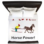 I Love Horse Power King Duvet