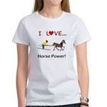 I Love Horse Power Women's T-Shirt