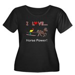 I Love Horse Power Women's Plus Size Scoop Neck Da