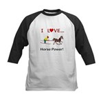 I Love Horse Power Kids Baseball Jersey