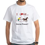 I Love Horse Power White T-Shirt