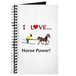 I Love Horse Power Journal