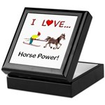 I Love Horse Power Keepsake Box
